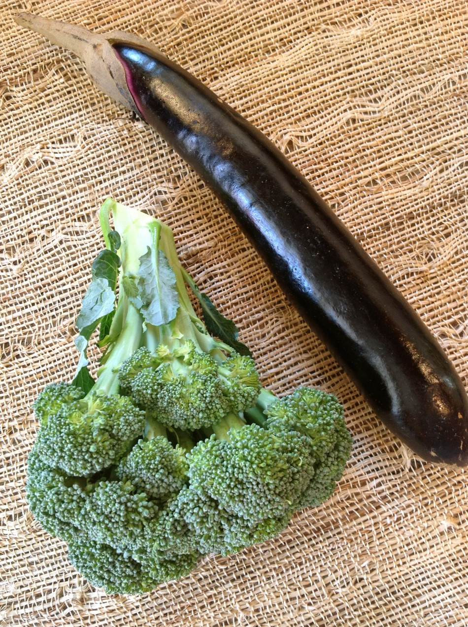 eggplant and broccoli