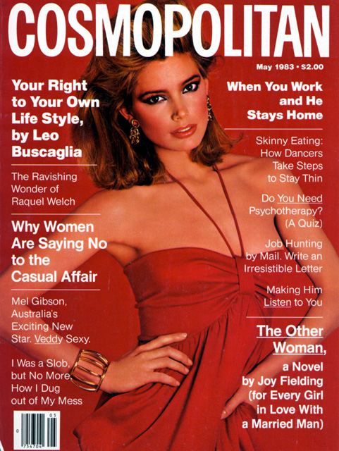 Kelly Emberg Cosmopolitan Magazine Cover by Francesco Scavullo