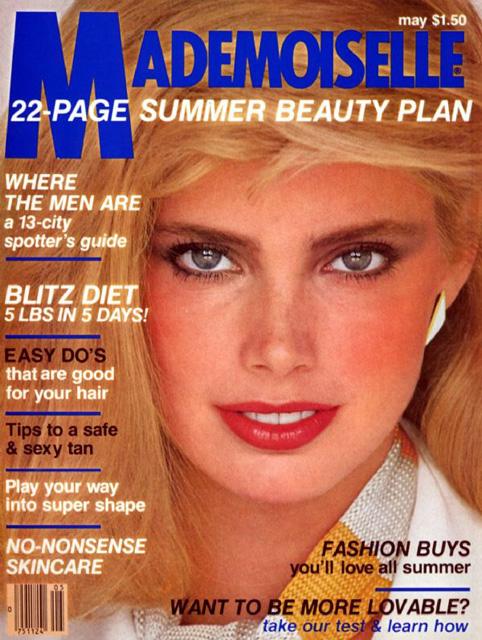 Kelly Emberg Mademoiselle Magazine Cover