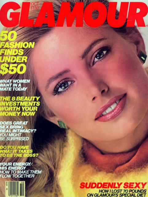 Kelly Emberg Glamour Magazine Cover