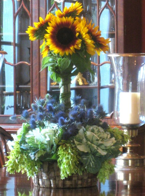 Kelly Emberg flower arrangements