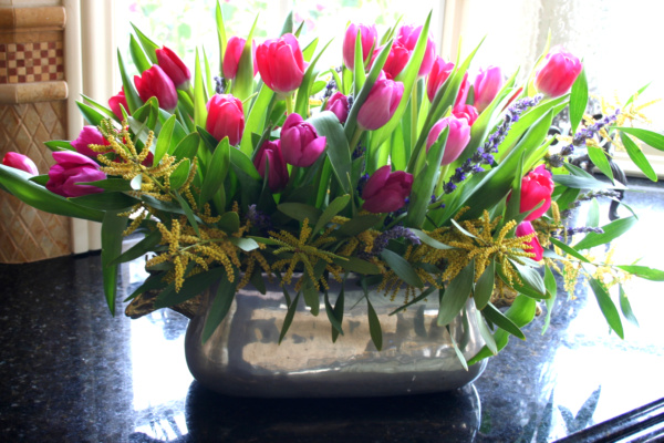 tulips and lavendar